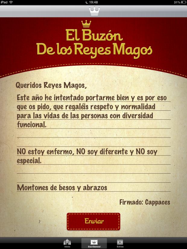 Carta Reyes Magos (cappaces)