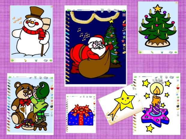 Christmas Coloring COMPOSICION