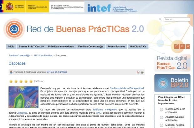cappaces.com en Buenas Prácticas 2.0