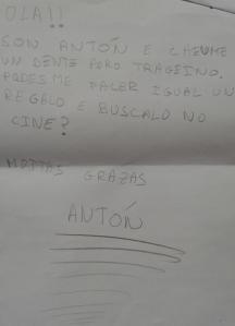 Carta al Ratoncito Perez