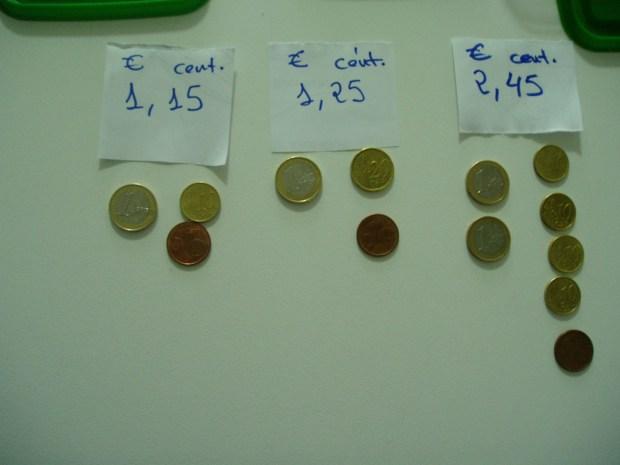 monedas de euro y céntimos