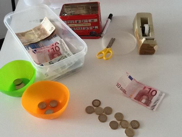 Actividades con billetes de euro para niños