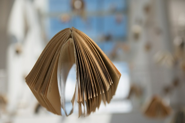 libro colgando