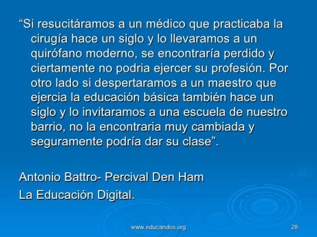 Cita: Antonio Battro - Percival Den Ham