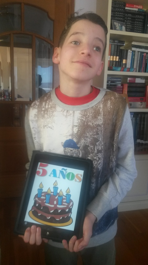 Anton y 5 años ipad