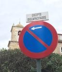 señalización plaza aparcamiento reservada a personas con diversidad funcional